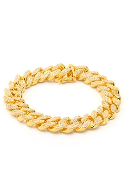 King Ice - Cuban Curb Chain Bracelet
