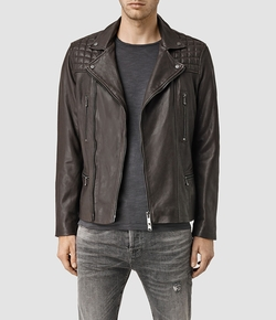 AllSaints - Rowley Leather Biker Jacket