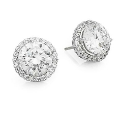 Fantasia - Pavé Round Stud Earrings