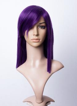 "Cosplayland -  ""GUNDAM Tieria Erde"" Purple Straight Silky Halloween Wig"
