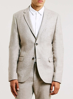 Topman - Wool Blend Skinny Fit Suit Jacket