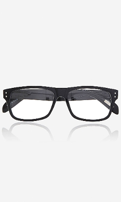Express - Clear Lens Double Stud Square Glasses