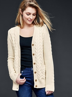 Gap - Honeycomb Cable-Knit Cardigan