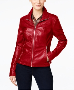 Kenneth Cole  - Faux-Leather Moto Jacket