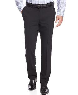 Kenneth Cole New York  - Dress Pants Black Solid Slim Fit