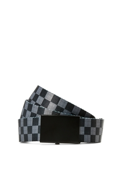 Rue 21 - Gray Checkered Webbed Belt