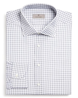 Canali - Large Gingham Check Dress Shirt