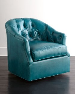 Horchow - Clair Peacock Swivel Chair