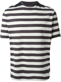 Lanvin - Wide Stripes Metallic T-Shirt