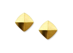 Vince Camuto  - Gold-Tone Pyramid Stud Earrings