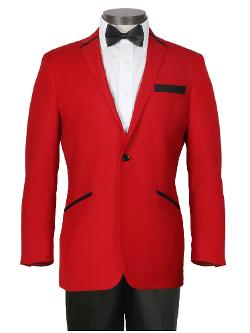 Ferrecci - Contemporary Red Tuxedo with Black Trousers