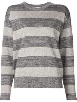Derek Lam 10 Crosby - Striped Metallic Sweater
