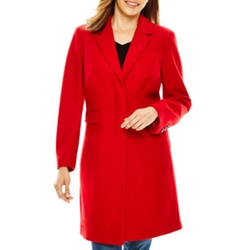 Liz Claiborne - Wool-Blend Walking Coat