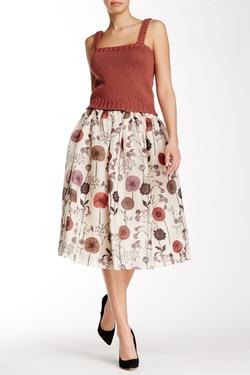 Jill Stuart  - Olivie Silk Midi Skirt