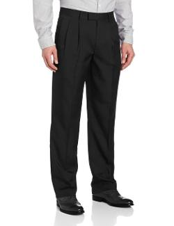 John Henry - Crosshatch Microfiber Modern Fit Double Pleat Pant