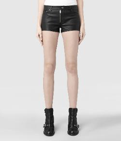 All Saints - Belle Leather Shorts