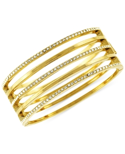 Vince Camuto - Open Cutout Pavé Hinge Bangle