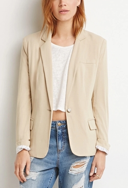 Forever 21 - Single-Button Knit Blazer