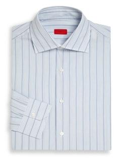 Isaia  - Regular Fit Striped Cotton Dress Shirt