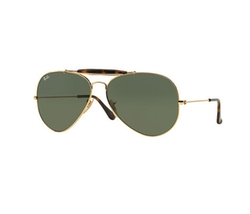 Ray-Ban - Havana Metal Aviator Sunglasses