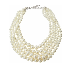 Greenbeads by Emily & Ashley - Five-Strand Pearly Statement Necklace