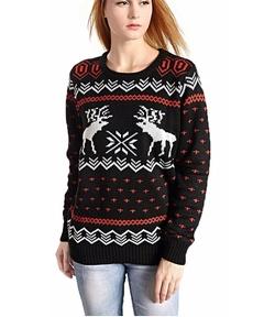V28® - Patterns of Reindeer Snowman Christmas Sweater