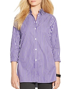 Lauren Ralph Lauren - Friamo Cotton Broadcloth Shirt