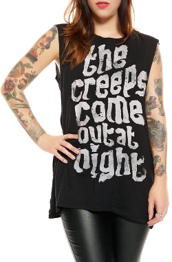 Social Decay - The Creeper Muscle T-shirt in Black