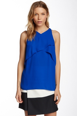 Vince Camuto - Sleeveless Crossed Layered Front Blouse