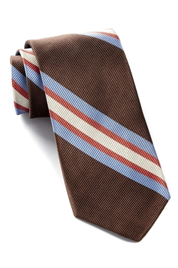 The Tie Bar  - Runaway Striped Silk Tie