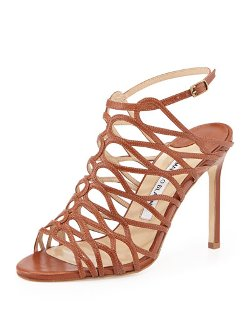 Manolo Blahnik   - Coddilla Leather Slingback Sandals