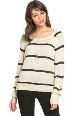 My Yuccie - Round Neck Striped Sweater