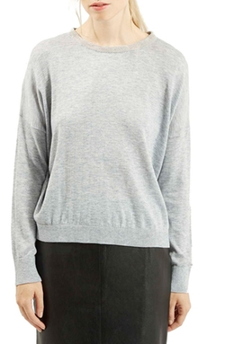 Topshop  - Beaded Crewneck Sweater