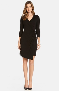 Karen Kane - Faux Wrap Jersey Dress