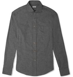 Brunello Cucinelli - Slim-Fit Cotton-Flannel Shirt