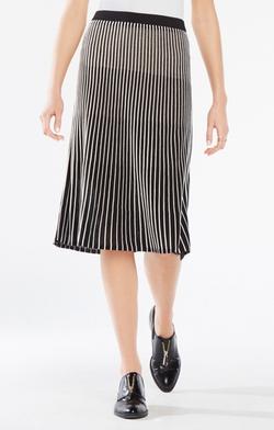 BCBGMAXAZRIA - Mindi Pointelle Stitch Midi Skirt