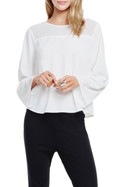 Jay Godfrey  - Bishop Flare Sleeve Top