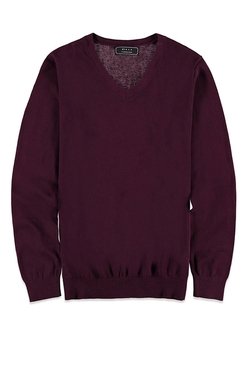 21Men - V-Neck Knit Sweater