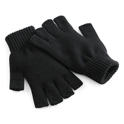 Beechfield - Unisex Plain Basic Fingerless Winter Gloves