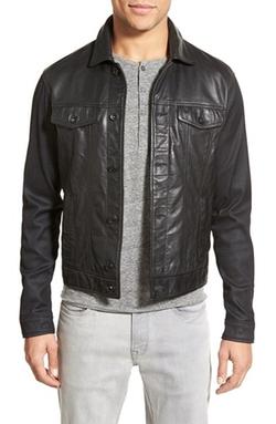 John Varvatos Star USA - Trim Fit Leather Jacket