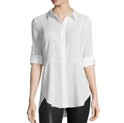 Halston Heritage  - Long-Sleeve Button-Front Shirt