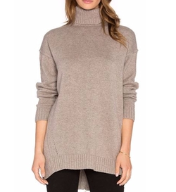 Fine Collection - Cashmere Blend Turtleneck Sweater
