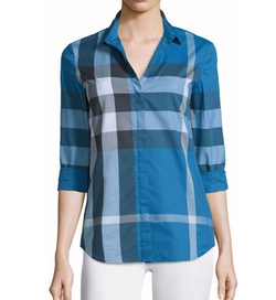 Burberry Brit  - Long-Sleeve Check Button-Front Shirt