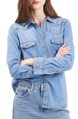 Topshop  - Denim Western Shirt