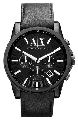 AX Armani Exchange - Chronograph Leather Strap Watch