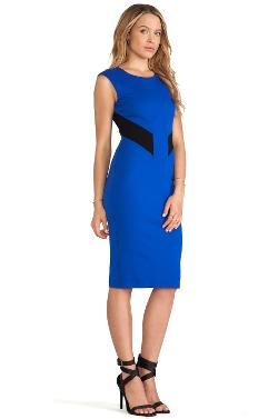 BIOTECH - COLOR BLOCK CUT OUT BODY CON DRESS