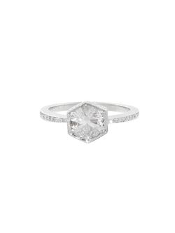Cathy Waterman - Hexagonal Bezel Ring