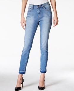 Earl Jeans  - Released-Hem Ankle Skinny Wash Jeans