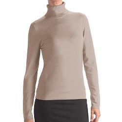 August  - Silk Rib-Trim Turtleneck Sweater