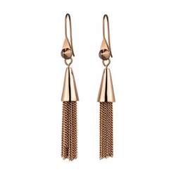 Eddie Borgo - Small Rose Gold Plated Chain Tassel Drop Earrings